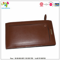 PU leather waterproof key ring plastic card holder