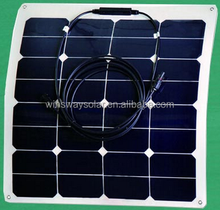 China Manufacturer 50W Sunpower Cell Flexible Solar Photovoltaic Panel