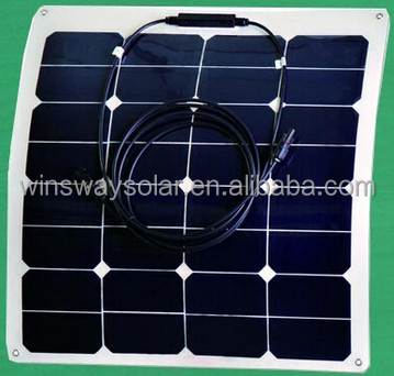 Factory Supply 50W Flexible Solar Photovoltaic Panel Made of Sunpower Solar Cell