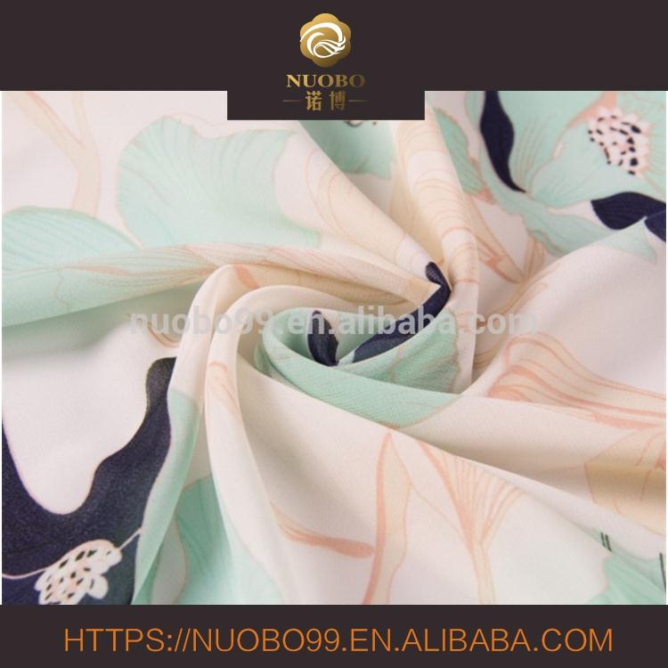 100%polyester high twist chiffon floral printing new year fashion for apparel