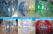 TPU PVC bumper loopy bubble soccer zorbing ball