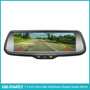 "GERMID 7.3"" TFT LCD HD Monitor Car Reverse Rear View Mirror+Night Vision Backup Camera"