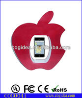 Novelty apple shape magnetic rotating cell phone display for promotion