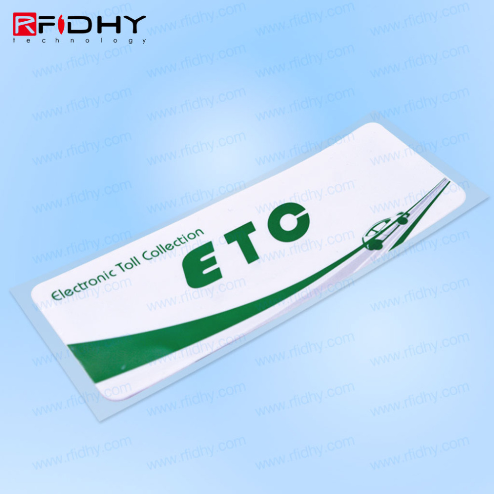 Anti Counterfeit Alien H3 UHF RFID Car Windshield Sticker for Vehicle Access Control