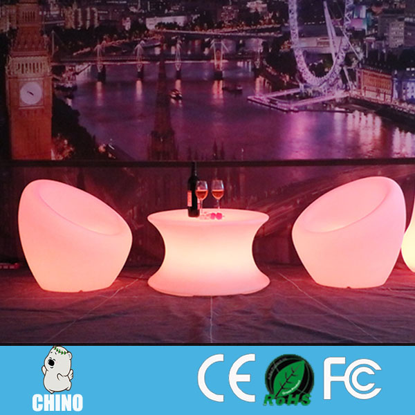 Led table/led illuminated Waterproof Plastic LED chairs/desks for bar
