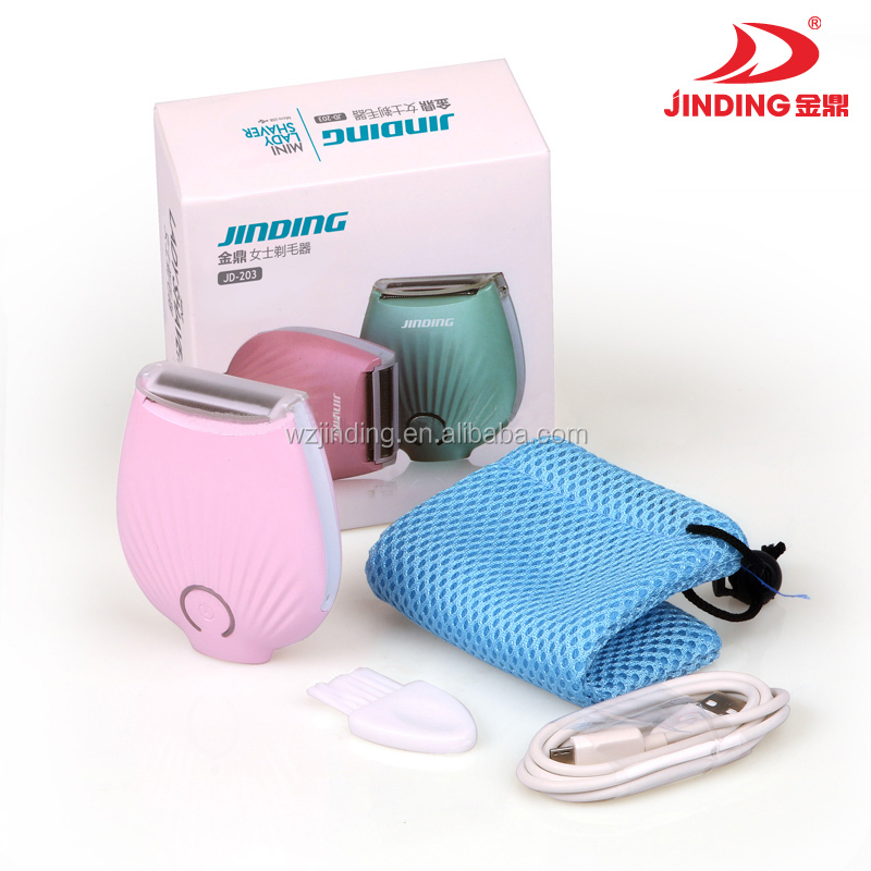 New! MINI USB lithium battery waterproof lady epilator/ electric shaver/hair remover JD203
