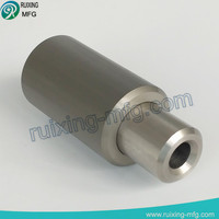 cnc machining parts machine assembly for aluminum bushing and steel shaft