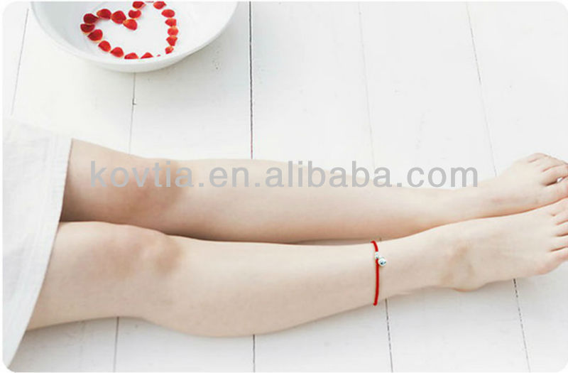 Wholesale charm chain silver anklets