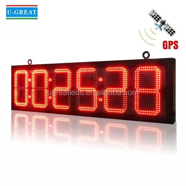 Remote Control Outdoor Waterproof 6 digits LED Race Clock / Timer for Marathon