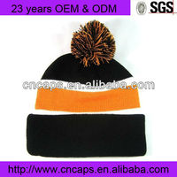 Cheap wholesale winter warm fancy knit beanie hat