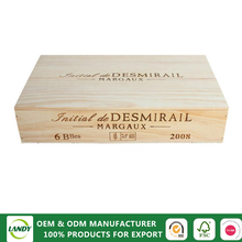Cheap decorative old wooden wine bottle boxes for sale
