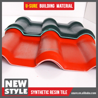 samll wave top grade natural slate pitch pvc roof tile with ridge cap