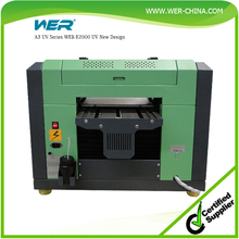 Top sale! a3 WER EP2000UV small on desk uv led printer ,pen printing machine