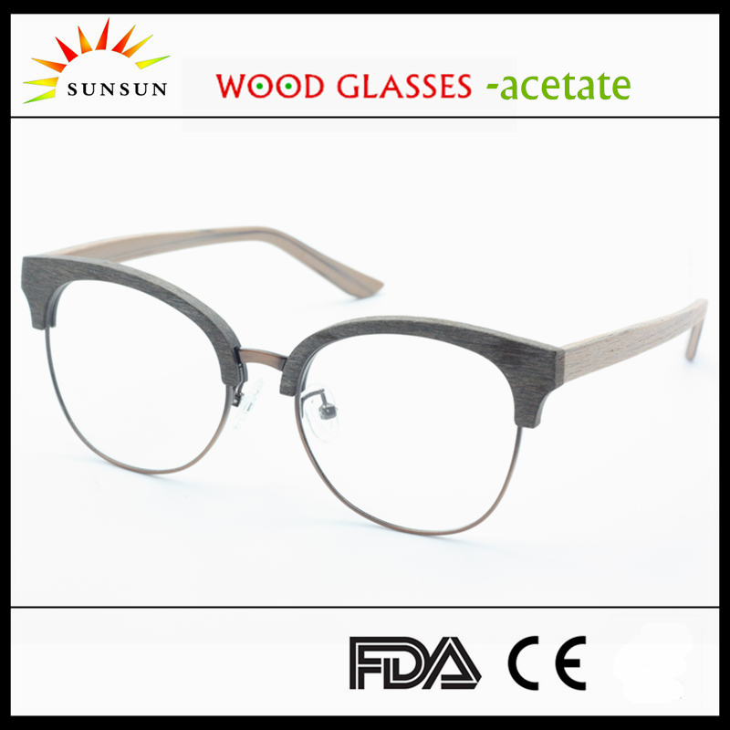 Half Frame Wood Glasses : Half Frame Prescription Wood Eyeglasses For Men Handmade ...