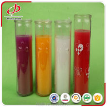 Wholesale 7 day burning time religious glass holder candle