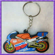 New design 3d soft pvc motorcycle keyring