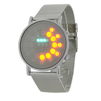 Drop Shipping Best Gift Men's Luxury Date Digital Sport Led Watch With Red Light Robber Band High Quality LED Wristwatch