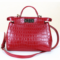 2014 ladies name branded high quality fashion designer 100% genuine leather handbags wholesale