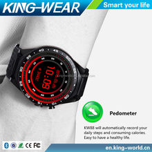 20 PCS/ Lot China Factory KingWear KW88 Android 5.1os Trendy Smart Watch with Camera Mobile Watch Phones