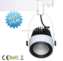 Factory art gallery white dimmable 30w cob led track light with AC220-240V Voltage