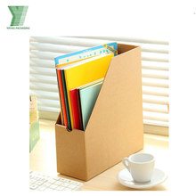 Custom kraft desktop cardboard file holder
