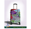 Promotional Printed ABS PC Internal Trolley Luggage Bag
