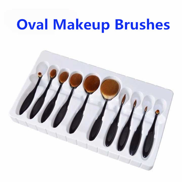 Best Seller 2016 Oval Makeup Brush, Cosmetic Oval Makeup Brush Set Toothbrush