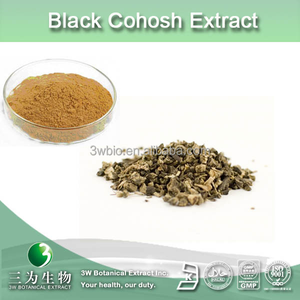100% natural black bugbane extract , black cohosh extract powder