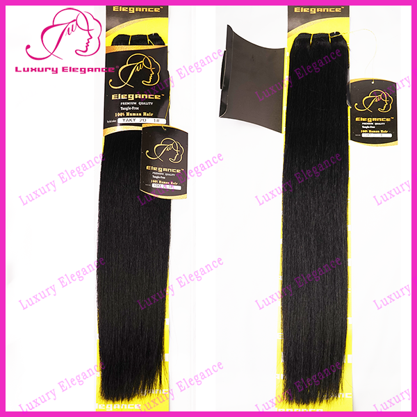 10 - 22 Inches 100 Human Hair Yaki Straight Weave Dark Brown Hair Bundles