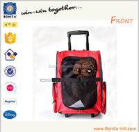 New Travel pet bag dog pet carrier backpack bag with trolley