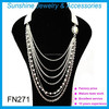Hot sale long chain pearl necklace fashion jewelry necklace