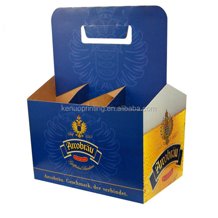 6 Pack Beer Bottle Holder Heavy Duty Corrugated Beer Bottle Shipping Box