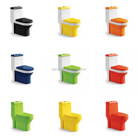 JY-5019 colorful sanitary ware one piece toilet