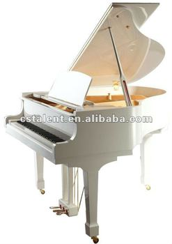 170cm white grand piano with Piano Stool