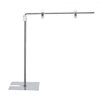 L Type Adjusted Metal Desktop Frame Shelf Display Stand