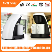 Hot selling Antronic GS/CE/RoHS/ERP2/DGCCRF 240ml 2 ceramic cups electrical coffee maker