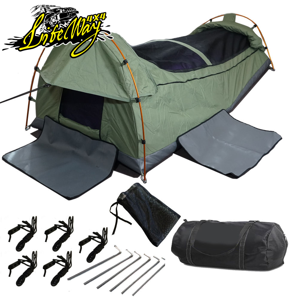 Single Person Waterproof Swag Canvas Tent For Camping