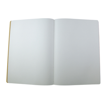 B5 custom cheap price soft paper cover eco friendly kraft paper notebook with grid printing