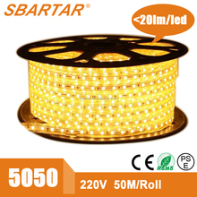Energy saving 220V 5050 industria/commercial illumination 60leds led strip waterproof IP68