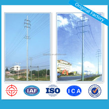 Hot Dip Galvanized Transmission Steel Power Pole 20M