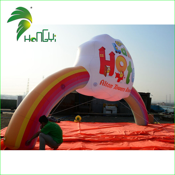 High Quality Advertising Inflatable Arch , Inflatable Rainbow Arch