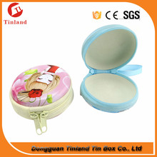 small round metal tin lip balm container wholesale