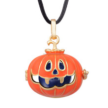 H221A14 Nice Pendants Hollowen Day Pumpkin Cage Brass Color Ball Harmony Bola Mexican Bola for Pregnant Lady and Kids