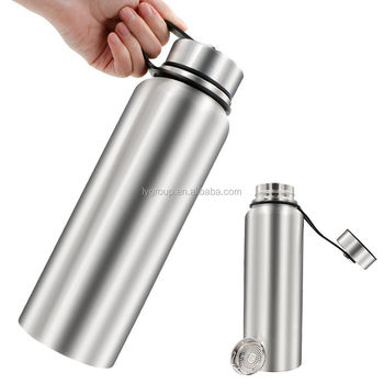 NEW 32oz Vacuum Insulated Stainless Steel Water Bottle with Flip Lid,Wide Mouth Thermo hydro bottle flask with tea infuser 900ml