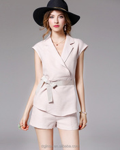 The ladies new fashion blouse+wrap skirt V-neck shirt two-piece elegant outfit dress suit