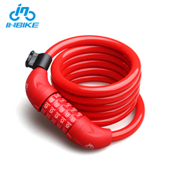 INBIKE Wholesale Oem 5-Digit Combination Anti Theft Bike Steel Wire Lock
