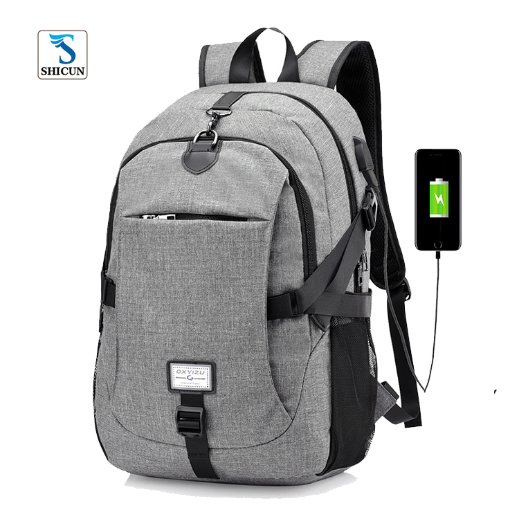 2017 factory price wholesale trendy design USB charge anti theft multifunction mens business backpack