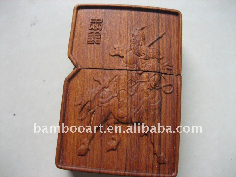 wooden lighter case