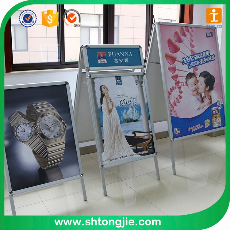 Advertising promotion aluminum display rack a0 poster frame