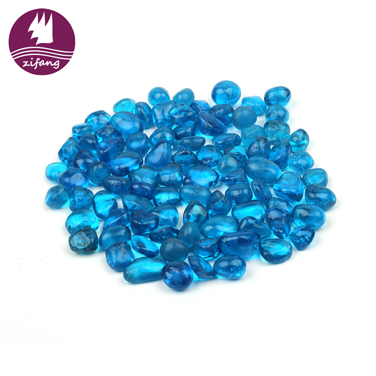 Solid gas fire glass for fireplace/fire pit